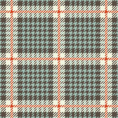 Tweed houndstooth tartan seamless pattern. Vector illustration Illustration