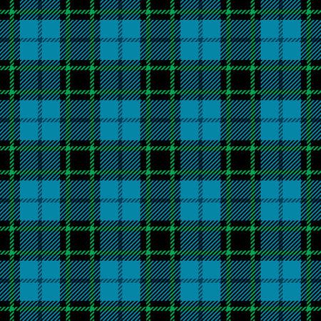 Blue and green tartan seamless pattern. Vector illustration