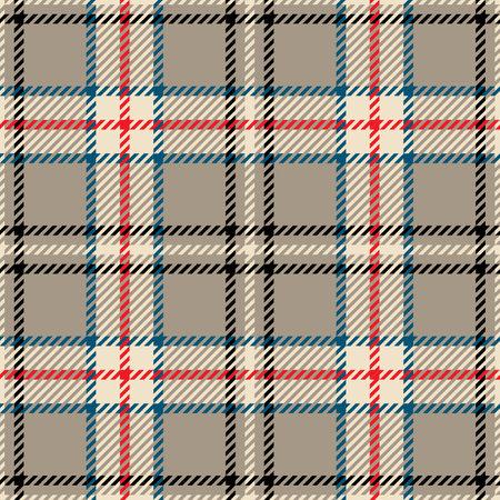 Tartan seamless pattern in multiple colors. Vector illustration