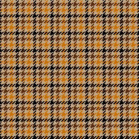 Tweed brown houndstooth seamless pattern. Vector illustration Illustration