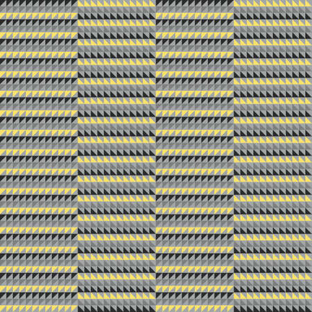 Geometric seamless patterns in gray and yellow colors trendy colors. Vector illustration Illustration