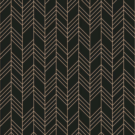 Abstract Geometric Seamless Pattern on black background. Vector illustration