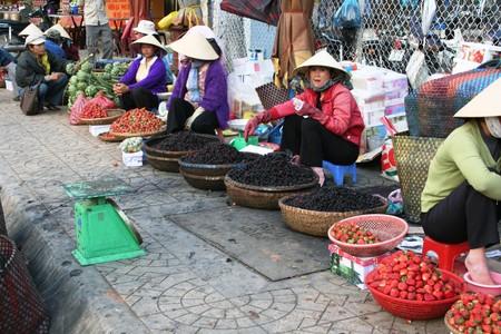 Trip to Vietnam: traditional market in Dalat