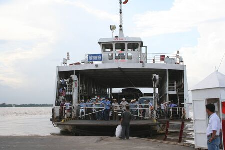 Journey to Asia: a ferry on the Mekong river, Vietnam