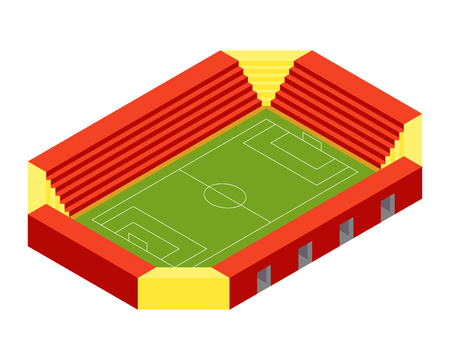 soccer stadium: Soccer stadium isometric flat design