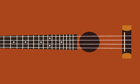 fretboard: Ukulele fretboard background flat design vector illustration