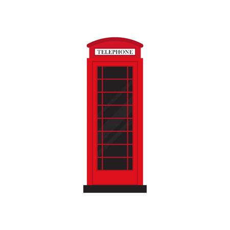 Rode retro telefooncel plat ontwerp vector illustratie