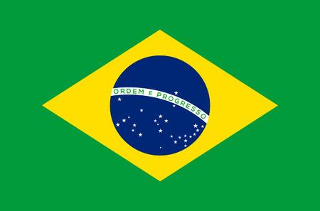 brazil flag: Brazil flag vector illustration