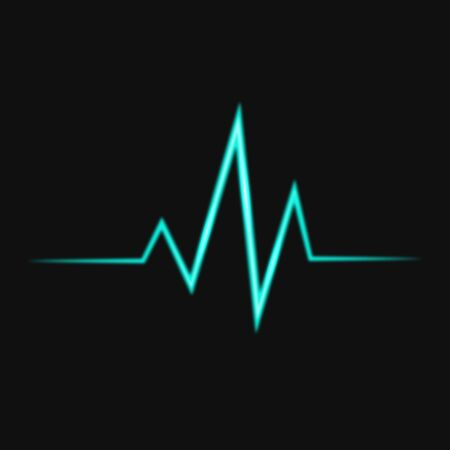 cardiograph: Abstract bright heart pulse icon vector illustration Illustration