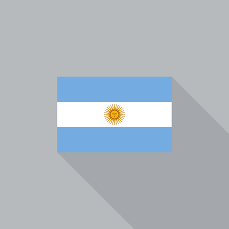 argentina flag: Argentina flag flat design vector illustration Illustration