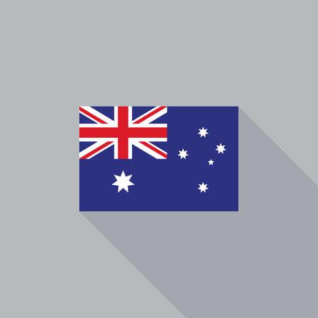 australia flag: Australia flag flat design vector illustration Illustration