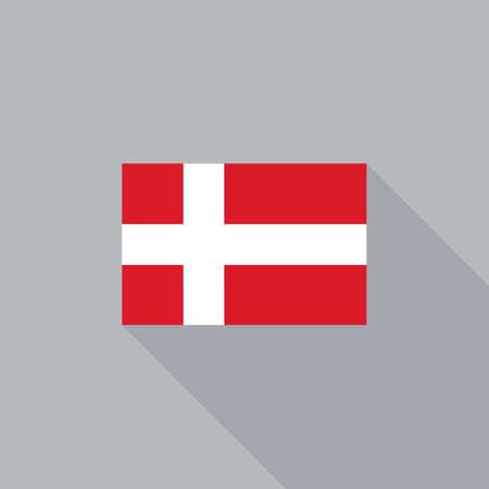 denmark flag: Denmark flag flat design vector illustration