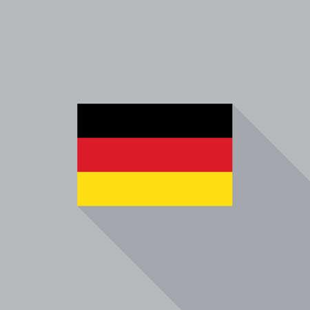 bandera alemania: El indicador de Alemania dise�o plano ilustraci�n vectorial
