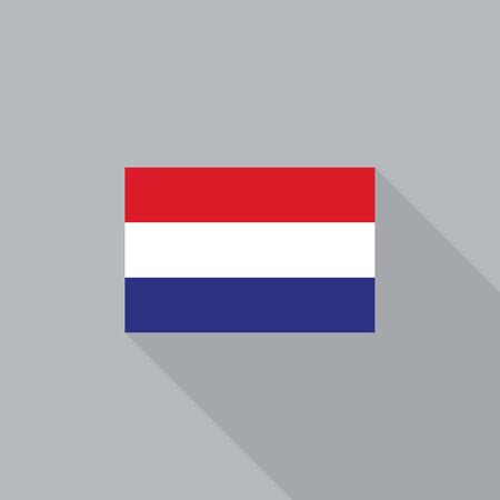 netherlands flag: Netherlands flag flat design vector illustration Illustration