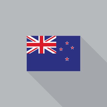 new zealand flag: New Zealand flag flat design vector illustration Illustration
