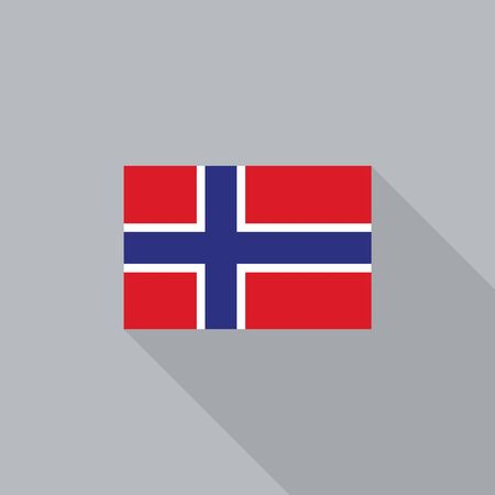 norway flag: Norway flag flat design vector illustration Illustration