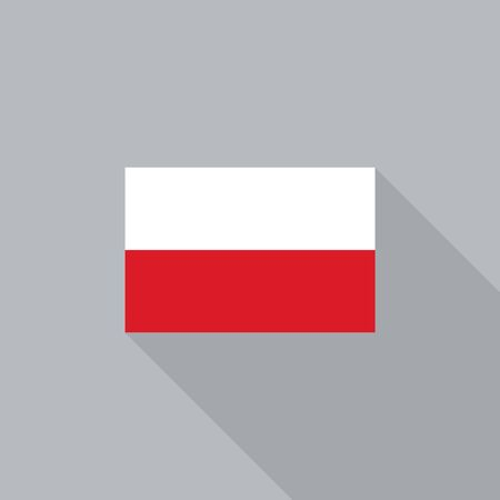 poland flag: Poland flag flat design vector illustration