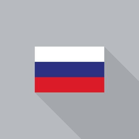 bandera rusia: bandera de Rusia diseño plano ilustración vectorial