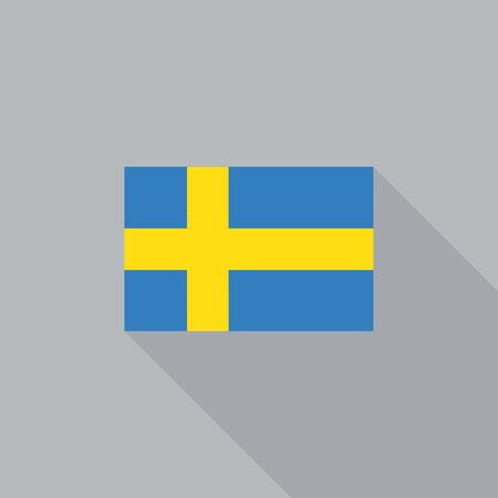 bandera suecia: bandera de Suecia dise�o plano ilustraci�n vectorial Vectores