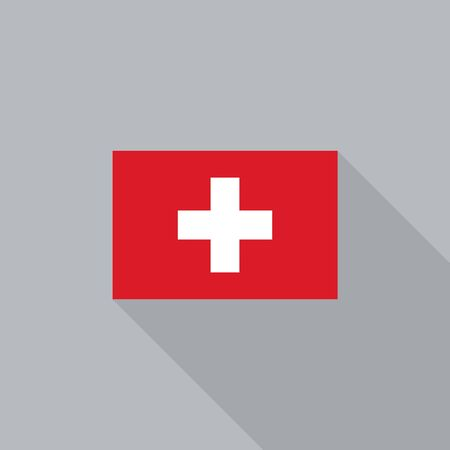 switzerland flag: Switzerland flag flat design vector illustration