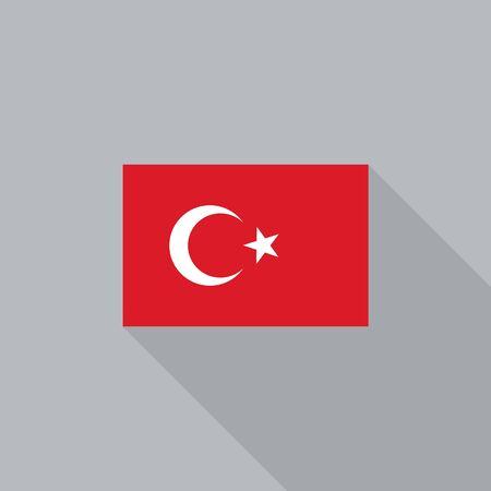 turkey flag: Turkey flag flat design vector illustration Illustration
