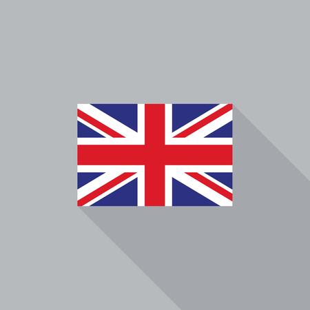 UK England British flag flat design vector illustration