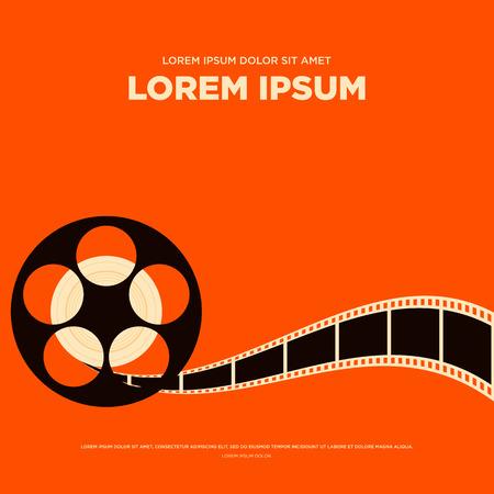 Film Filmrolle und Streifen Vintage Poster isoliert Vektor-Illustration