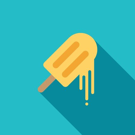 melting: Melting ice cream icon flat design isolated vector illustration Illustration