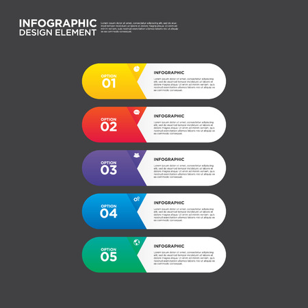 65441242 infographic business report template layout design element vector illustration can be used for workflow layout and number