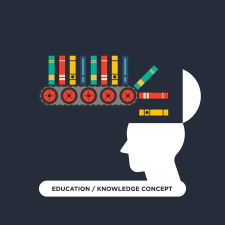 Bildung Lernen Wissen Konzept flaches Design Vektor-Illustration