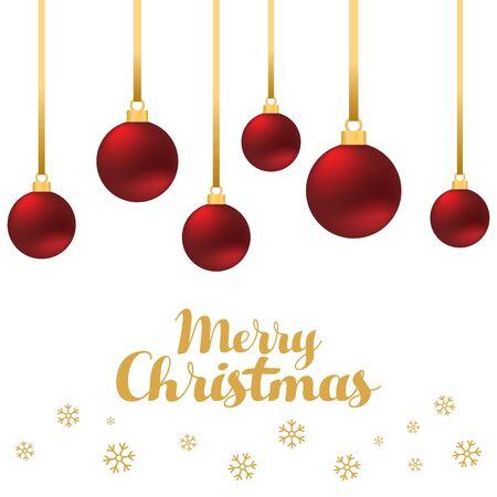 postcard design: Christmas balls, design template used for postcard, poster, background, wallpaper, banner, and other design elements, vector illustration