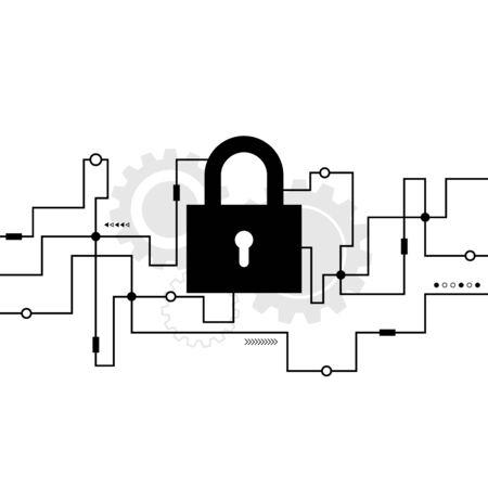 Cybersecurity system, Internet protection concept, vector illustration Illusztráció