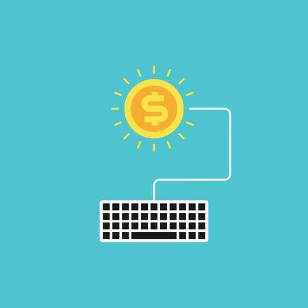Modern internet advertising concept, vector illustration Illustration