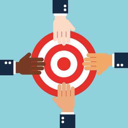 dartboard: International business conveyance vector illustration.