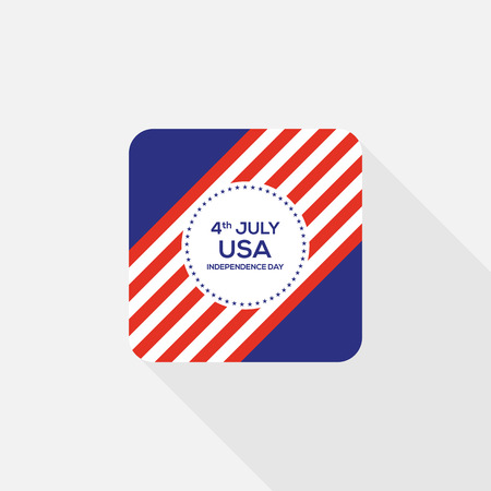 4th of July independence day United States of America icon flat design, vector illustration Illustration
