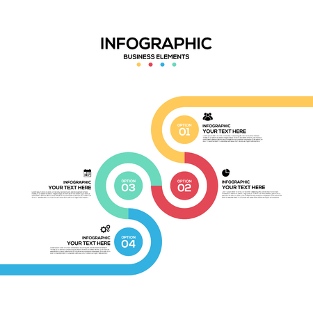 numbers abstract: Infographics business marketing report template layout design, can be used for workflow, layout, diagram, vector illustration