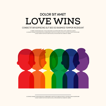 LGBT community poster template background, Can be used for backdrop, brochure, vector illustration.