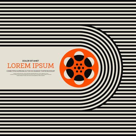 Movie and film modern retro vintage poster background, vector illustration