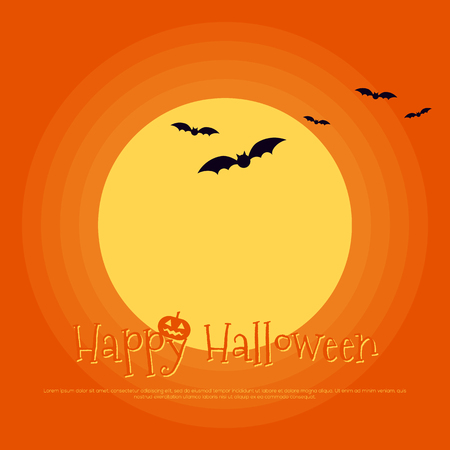 Happy halloween poster template background, design element can be used for backdrop, publication, brochure, vector illustration