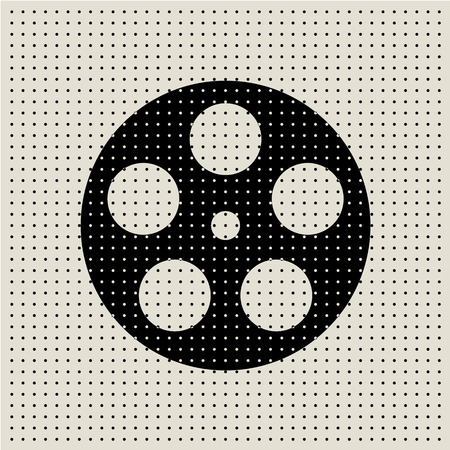 camera film: Movie and film abstract dot pattern background, vector illustration