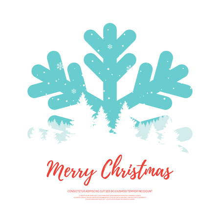Merry Christmas design element template, can be used for background, poster, backdrop, brochure, leaflet, publication, vector illustration