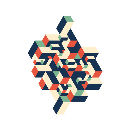 Abstract colorful geometric isometric background, design element can be used for backdrop, poster, vector illustration