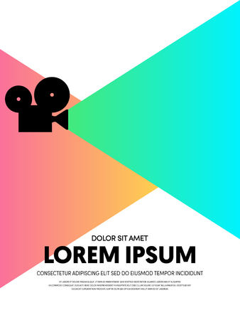Movie and film abstract modern poster background, design element template can be used for backdrop, brochure, leaflet, publication, vector illustration
