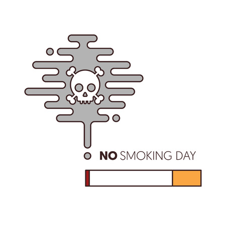no smoking and world no tobacco day poster template background, vector illustration