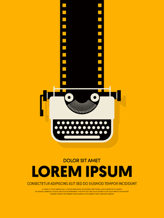 Movie and film modern retro vintage poster background. Иллюстрация