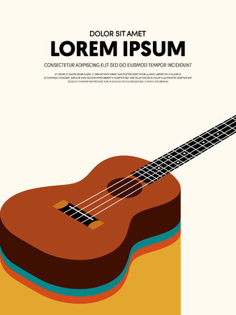Music modern retro vintage abstract poster background. Design element template can be used for backdrop, brochure, leaflet, publication, vector illustration