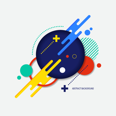 Abstract colorful gradient geometric shape background, vector illustration