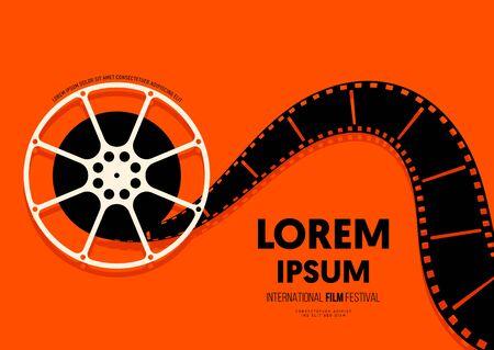 Arrière-plan du modèle de conception d'affiches de films et de films, style rétro vintage moderne. L'élément de conception graphique peut être utilisé pour la toile de fond, la bannière, la brochure, le dépliant, le dépliant, l'impression, la publication, l'illustration vectorielle