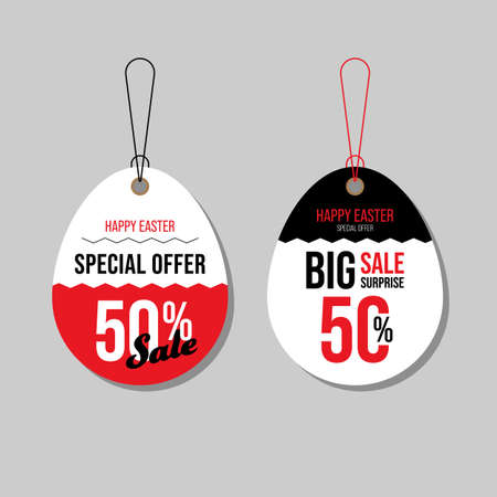 Happy Easter sale promotion and special offer discount price tag label. Design element template can be used for banner, brochure, leaflet, flyer; publication, advertisement 일러스트