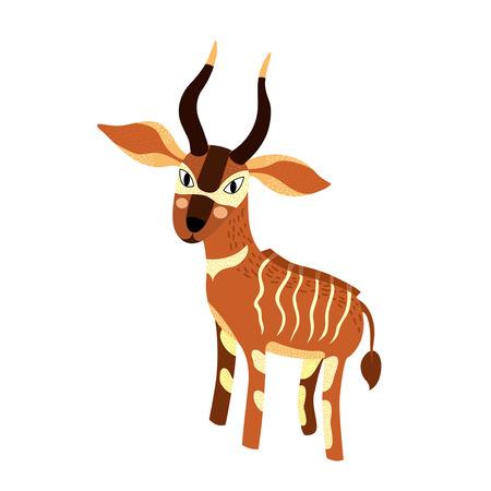 bongo: Bongo cartoon character. Isolated on white background. Vector illustration.